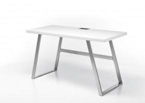 Psací stůl Salvia (bílá, stříbrná)