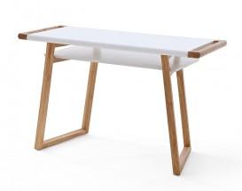 Psací stůl Taron (bílá, dub)