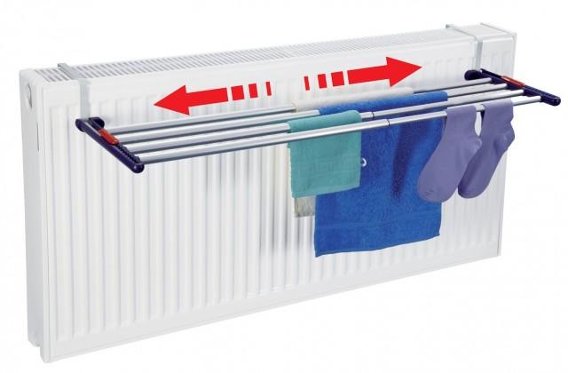 Quartett - sušák na prádlo (bílo-fialový)