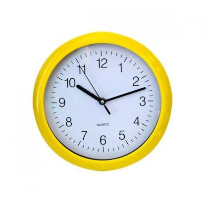 QUARTZ-Hodiny nástěnné (žlutá)