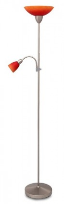 Rainbow - Lampa, E27 (hedvábně lesklá chromová/červeno-oranžová)