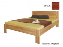 Rám postele Gemma 200x220 (masívní buk/lak: barva třešeň)
