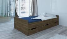 Rám postele Suen 90x200, ořech admiral, ÚP, bez roštu a matrace
