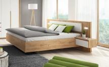 Rám postele Xelo 160x200, 2x noční stolek, bez roštu, mat. a úp