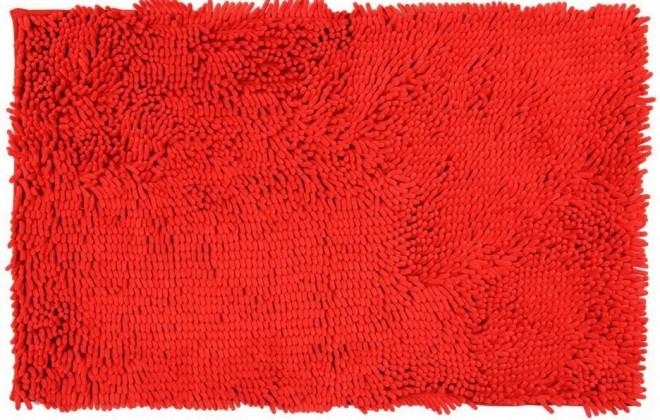 Rasta micro - koupelnová předložka, 50x80 cm (červená)