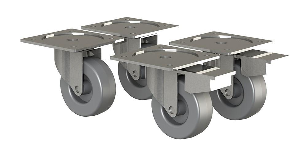 Regál Box - nábytková kolečka, 4 kusy (šedá)