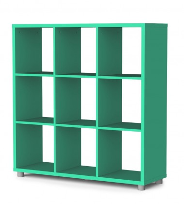 Regál Box - regál 3x3 (jadeitová)