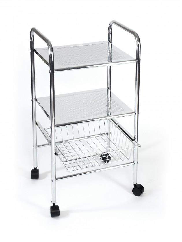 Regál do koupelny Koupelnový vozík, 73,5 cm (chrom)