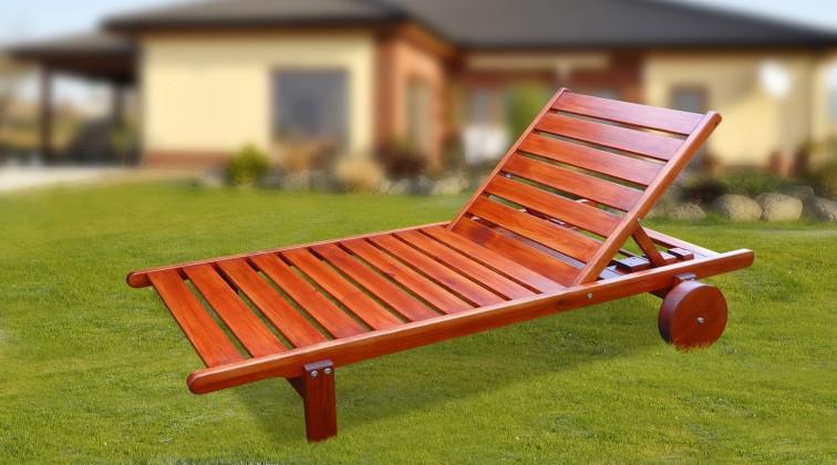 Relax - Polohovací lehátko (mahagon)