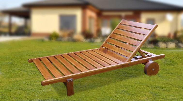Relax - Polohovací lehátko (teak)