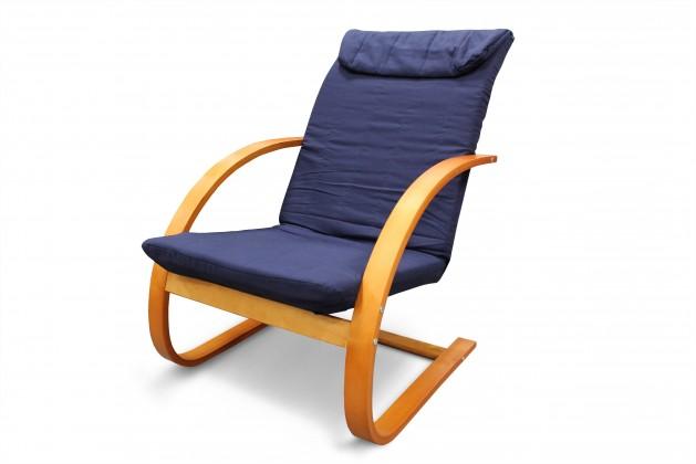Relaxační Fiori - Křeslo relaxační (třešeň / modré plátno)