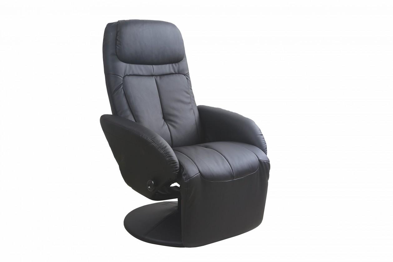 Relaxační Kožené křeslo Optima černá
