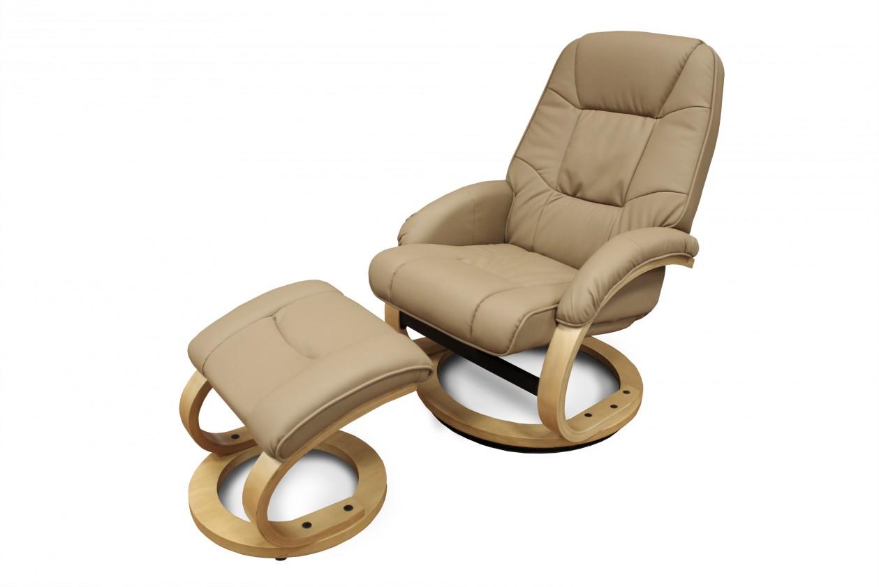 Relaxační Křeslo Matador s taburetem (eko kůže)