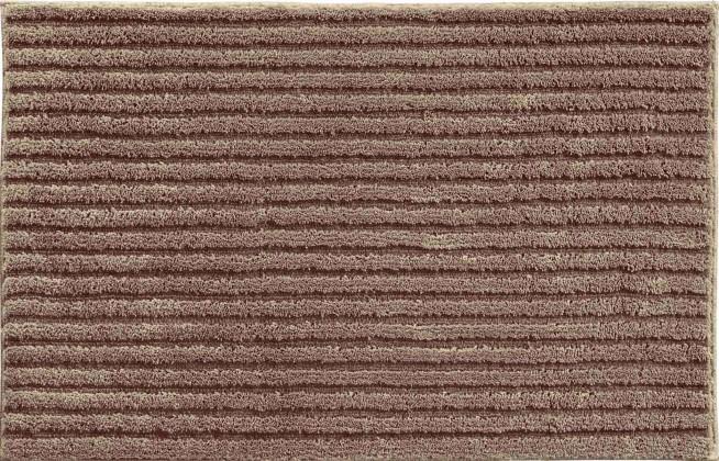 Riffle - Koupelnová předložka 60x100 cm (čoko krémová)