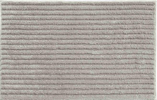 Riffle - Koupelnová předložka 60x100 cm (minerální šedá)