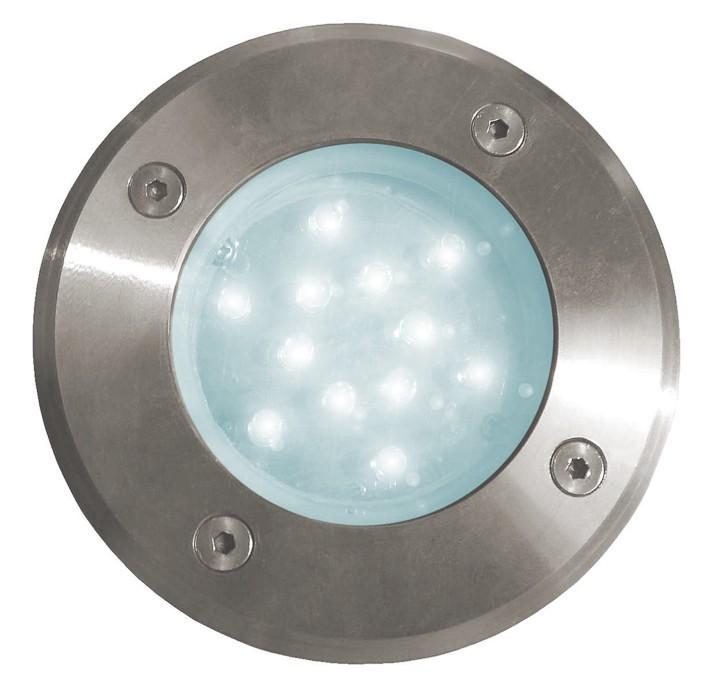 Road - Venkovní LED svítidlo, 12LED, 1W, 24x24x57 (studená)