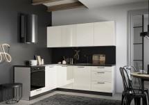 Rohová kuchyně Betty levý roh 230x180 cm (jasmín, lesk)