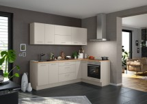 Rohová kuchyně Inge levý roh 250x150 cm (šedá, dub)