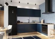 Rohová kuchyně Minea pravý roh 230x180 (modrá mat)