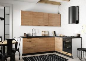 Rohová kuchyně Natali pravý roh 230x180 cm (dub lefkas)