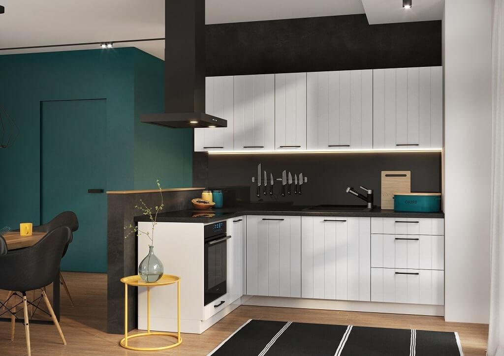 Rohová Rohová kuchyně Grace levý roh 230x160 cm (bílá mat)