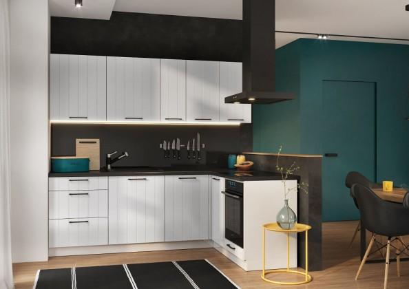 Rohová Rohová kuchyně Grace pravý roh 230x160 cm (bílá mat)