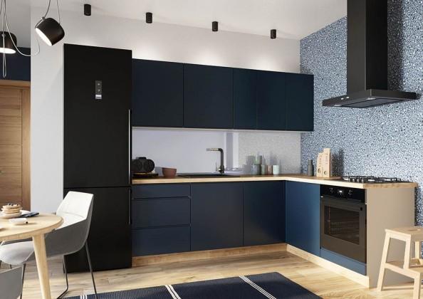 Rohová Rohová kuchyně Minea pravý roh 230x180 (modrá mat)