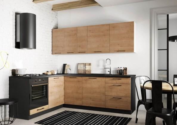 Rohová Rohová kuchyně Natali levý roh 230x180 cm (dub lefkas)