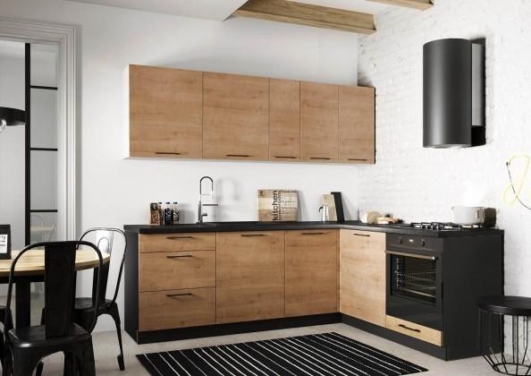 Rohová Rohová kuchyně Natali pravý roh 230x180 cm (dub lefkas)