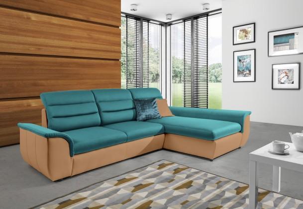 Rohová sedací souprava Ascoli - sedačka rohová pravá, ú.p., rozkl. (largo 3/savoy 14)
