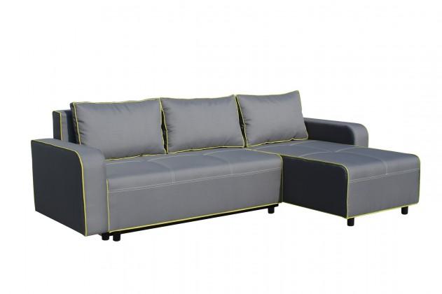 Rohová sedací souprava Black 2 - Roh pravý, rozkládací (mura 95/mura 35, paspule)