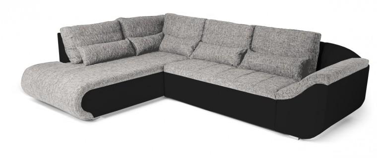 Rohová sedací souprava Carisma - roh levý (soft 11, korpus/balaton 90, sedák)