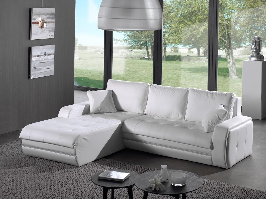 Rohová sedací souprava Flash-roh levý (pu white)