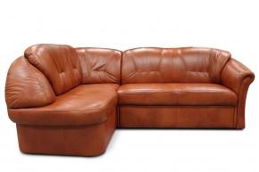 Rohová sedací souprava Granada levý roh (kůže, hnědá)