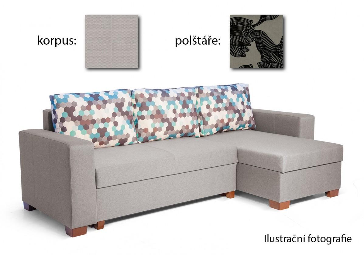 Rohová sedací souprava Lahti - Roh univerzální (majorka 2052/merida 2080, polštáře)