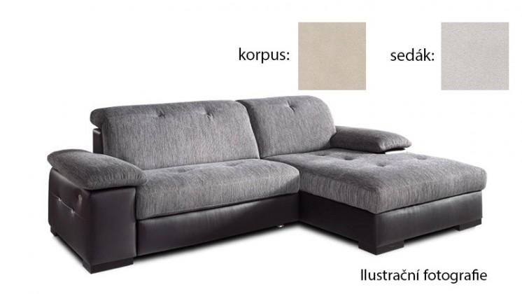 Rohová sedací souprava Livorna - pravá (k:new lucca-beige p702/m:new lucca-snow p706)