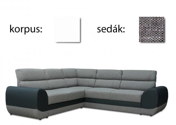 Rohová sedací souprava Long - pravý (soft 17 - korpus/lawa 05 - sedák)