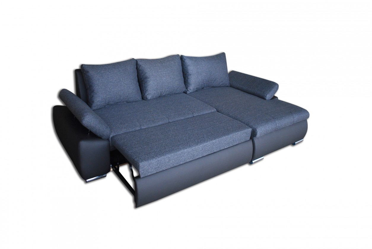 Rohová sedací souprava Loona - Roh pravý, rozkládací (madryt 195, korpus/sun 85, sedák)