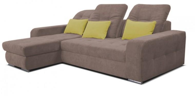 Rohová sedací souprava Naomi - roh levý (sun 94, sedačka/HC 40, polštáře)