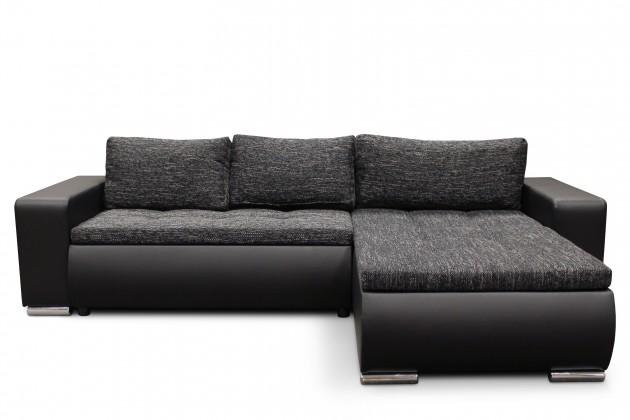 Rohová sedací souprava Nero - roh univerzální (eco D1 černá / berlin 02)