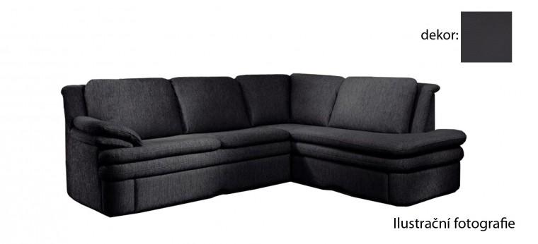Rohová sedací souprava Ostia - pravý roh (pulse - black D209, sk. R1)
