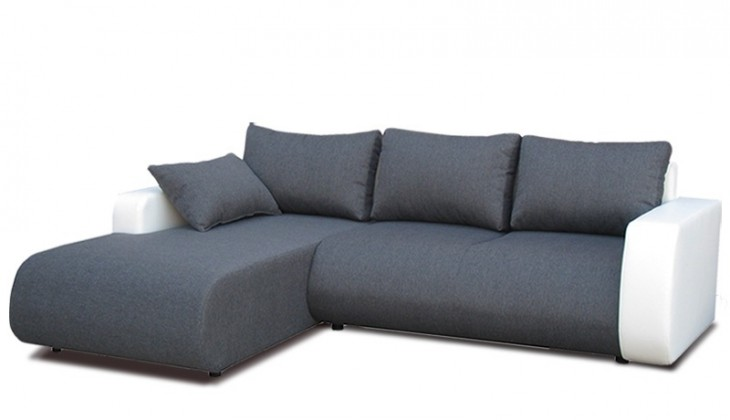 Rohová sedací souprava Rimini - levý roh (inari 96 grey / eco white)