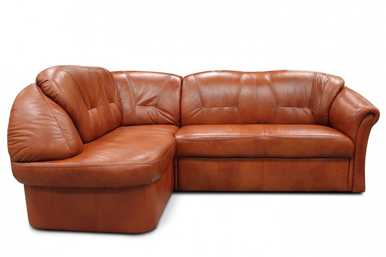 Rohová sedací souprava Rohová sedací souprava Granada levý roh (kůže, hnědá)