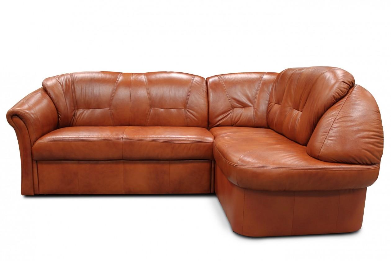 Rohová sedací souprava Rohová sedací souprava Granada pravý roh (kůže, hnědá)