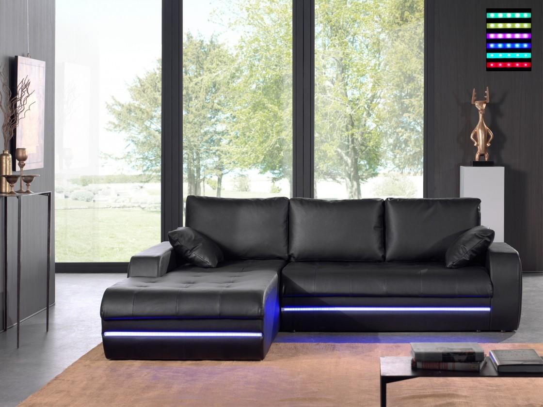 Rohová sedací souprava Rohová sedačka Flash levý roh (pu black)