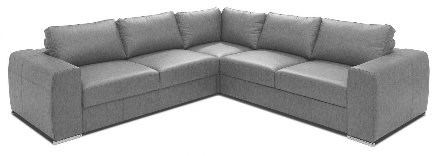 Rohová sedací souprava Rohová sedačka rozkládací Biblio pravý roh ÚP šedá