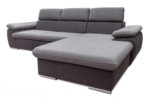 Rohová sedací souprava Rohová sedačka rozkládací Capri pravý roh ÚP šedá