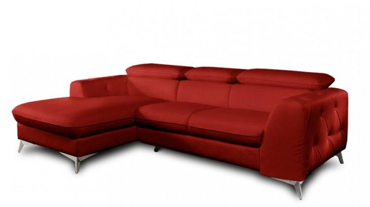 Rohová sedací souprava Rohová sedačka rozkládací Cobra levý roh (kůže)