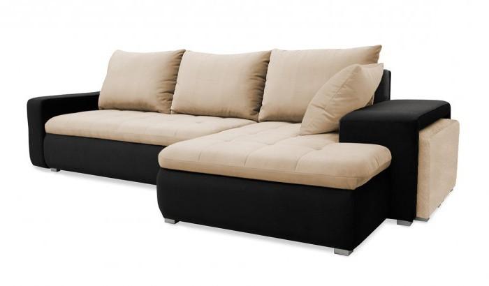 Rohová sedací souprava Rohová sedačka rozkládací Demi pravý roh (korpus-bella 15,látka)