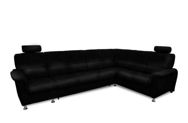 Rohová sedací souprava Rohová sedačka rozkládací Duo Panama pravá 1P-3F-R-2L (eko kůže)